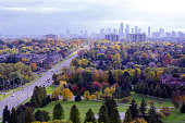 Mississauga downtown in fall colors