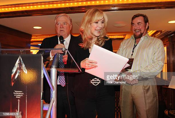 Mississippi Governor Haley Barbour Recording Artist Nanette Workman and Hartley Peavey Peavey Electronics at The Peavey Awards during The Governor's...