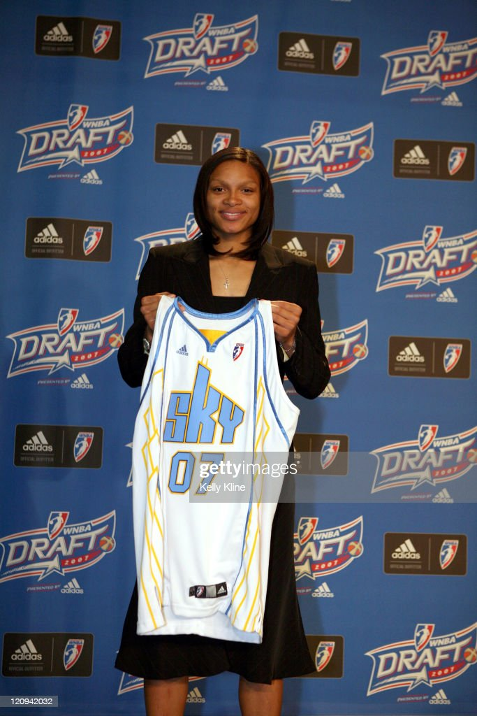Mississippi Guard Armintie Price is selected as the third over all draft pick by the Chicago Sky during the 2007 WNBA Draft at the Renissance Hotel...