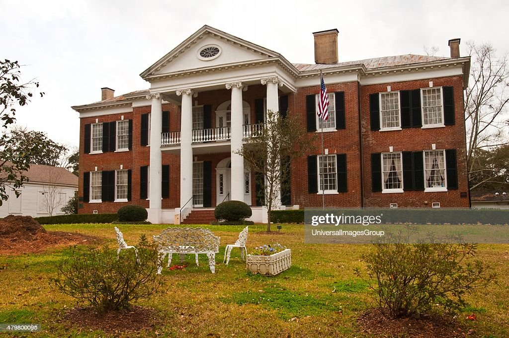 Mississippi Natchez Auburn Antebellum Greek Revival Mansion in Duncan Park