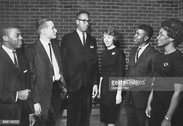 Mississippi Students Attend Banquet Of The Colorado Unit Of The United Negro College Fund From left are Theodore Henry Walton Magnum Albert Lassiter...