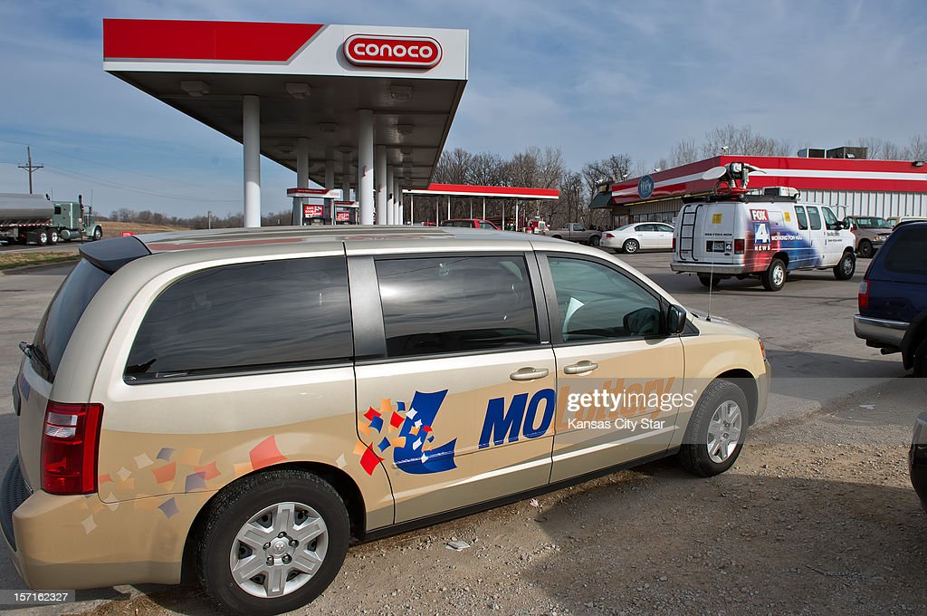 A Missouri Lottery van was packed outside the Trex Mart gas station at 17605 Highway Z in Dearborn, Missouri, one of the locations where the winning Powerball lottery ticket was sold inside the gas station, Thursday, November 29, 2012. The location of the winning tickets was announced on Thursday morning.