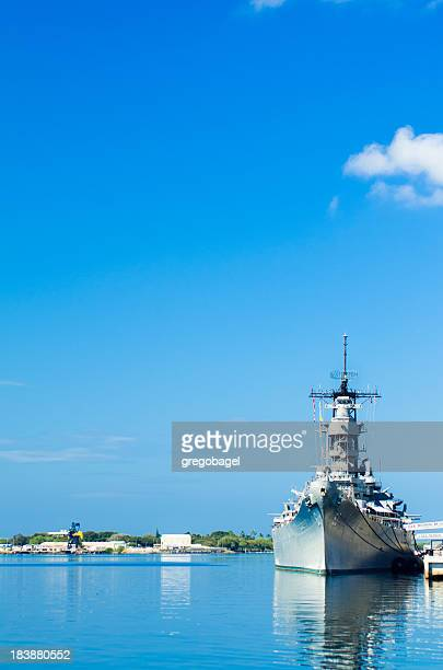 USS Missouri on the waters of Pearl Harbor