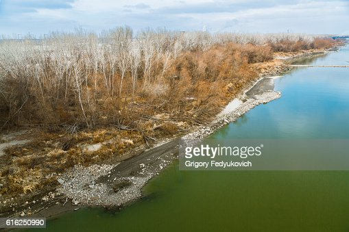 Missouri River close to Kansas City : Foto de stock