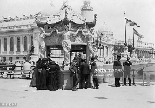 Saint Louis World's Fair A pavilion at the exhibition area selling refreshments 1904 Photographer Philipp Kester Vintage property of ullstein bild