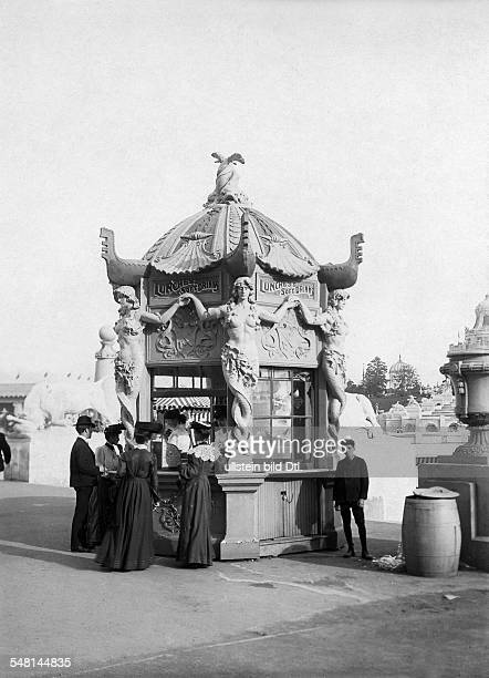 USA Missouri Saint Louis Saint Louis World's Fair A pavilion at the exhibition area selling refreshments 1904 Photographer Philipp Kester Vintage...