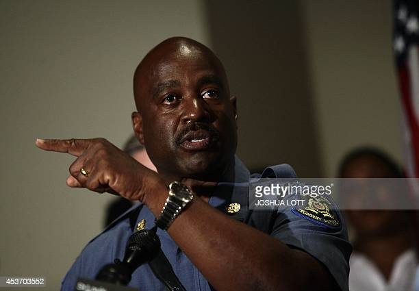Missouri State Highway Patrol Captain Ronald Johnson speaks about the shooting death of 18 yearold Michael Brown during a news conference August 16...