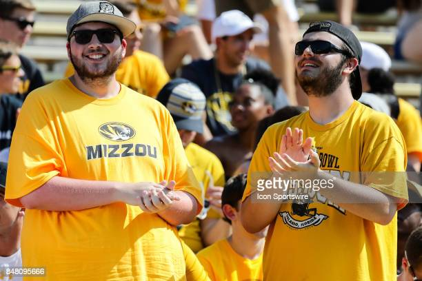 Missouri Tigers' fans get set for the start of the first half of the Purdue Boilermakers game at the Missouri Tigers on September 16 at Memorial...