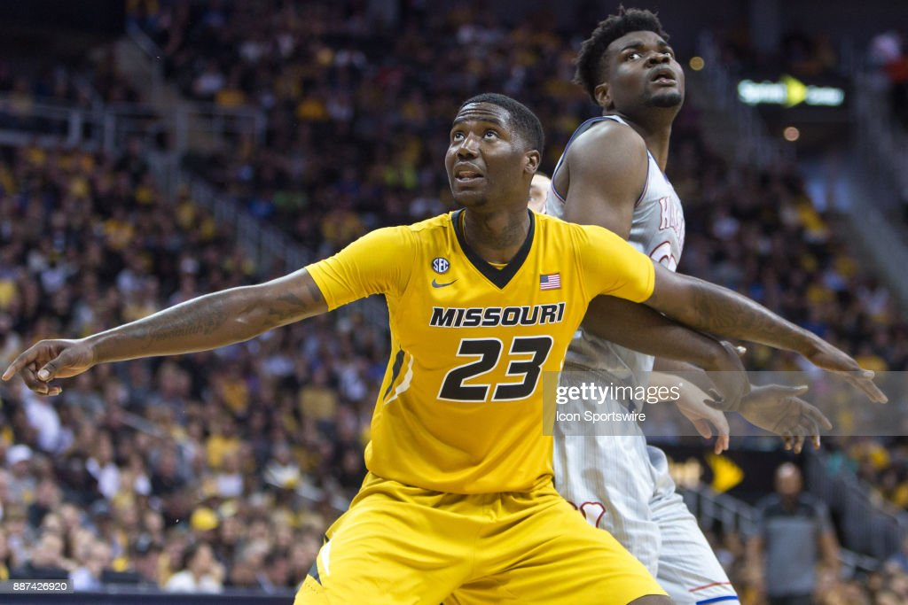 Missouri Tigers forward Jeremiah Tilmon (23) during the preseason Showdown for Relief college basketball game between the Missouri Tigers and the Kansas Jayhawks on October 22, 2017 at Sprint Center in Kansas City, Missouri.