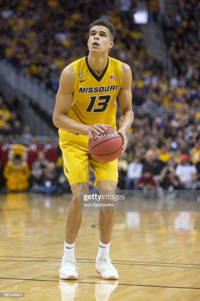 Missouri Tigers forward Michael Porter Jr. (13) during the preseason Showdown for Relief college basketball game between the Missouri Tigers and the Kansas Jayhawks on October 22, 2017 at Sprint Center in Kansas City, Missouri.