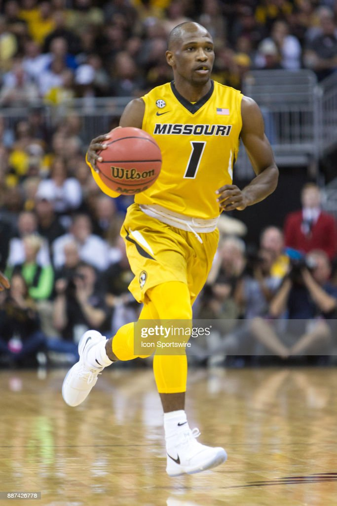 Missouri Tigers guard Terrence Phillips (1) during the preseason Showdown for Relief college basketball game between the Missouri Tigers and the Kansas Jayhawks on October 22, 2017 at Sprint Center in Kansas City, Missouri.