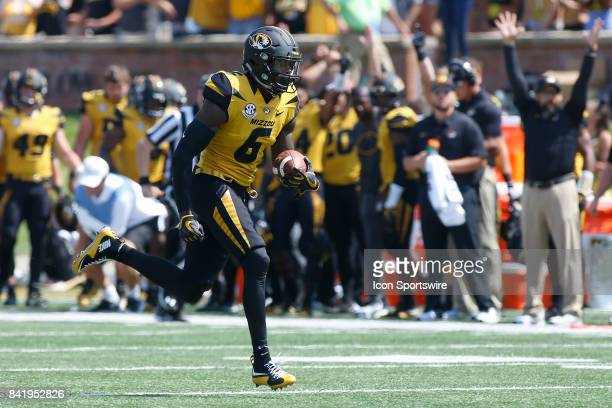 Missouri Tigers wide receiver J'Mon Moore rushes for a touchdown during the first half of a football game Saturday against the Missouri State Bears...