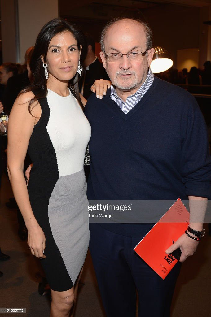Missy Brody and Salman Rushdie attend the VIP Reception at Jony And Marc's Auction at Sotheby's on November 23 2013 in New York City Photo by Theo...