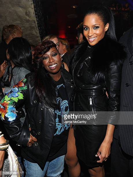 Missy Elliot and Ciara attend the 10th anniversary of TAO New York at TAO on October 16 2010 in New York City