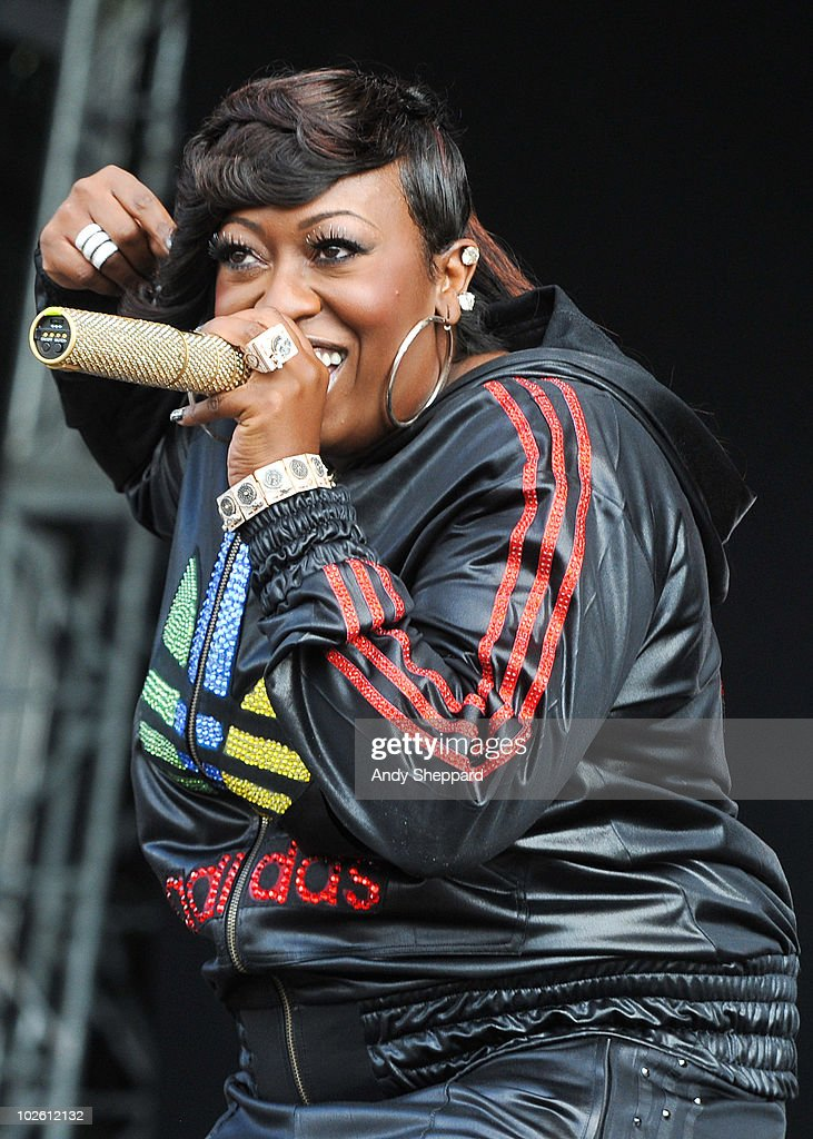 Missy Elliot performs on stage during the second day of Wireless Festival 2010 in Hyde Park on July 3, 2010 in London, England.