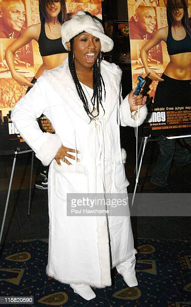 Missy Elliott during 'Honey' New York Premiere Inside Arrivals at Chelsea West Theater in New York City New York United States