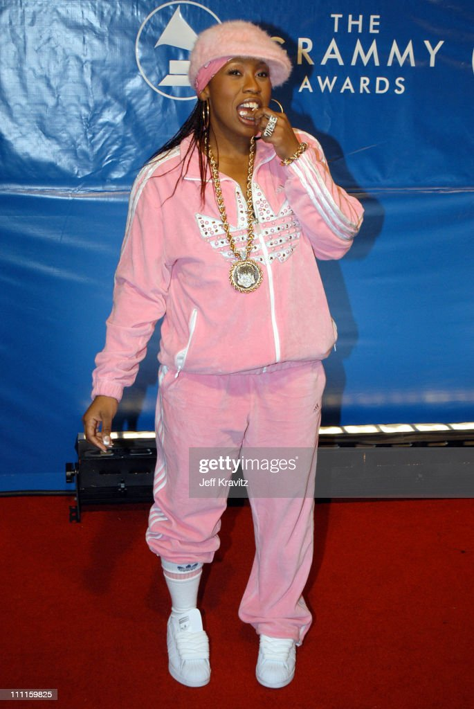 Missy Elliott during The 45th Annual GRAMMY Awards - Arrivals at Madison Square Garden in New York, NY, United States.