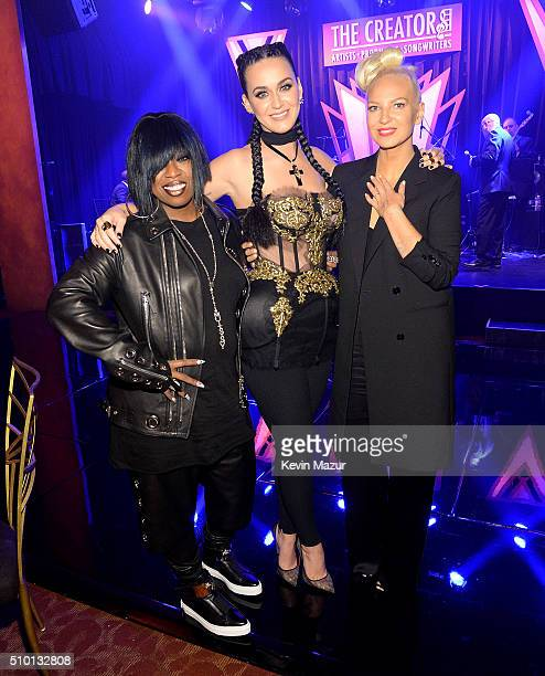 Missy Elliott Katy Perry and Sia attendÊThe Creators PartyÊPresented by Spotify at Cicada on February 13 2016 in Los Angeles California
