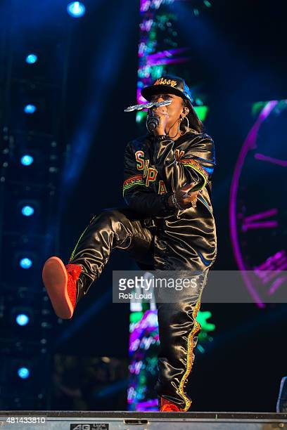 Missy Elliott performs at the Pemberton Music Festival on July 19 2015 in Pemberton Canada