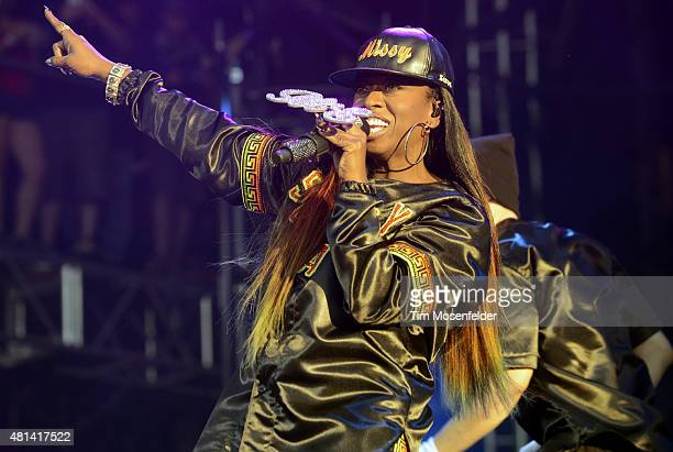 Missy Elliott performs during the Pemberton Music Festival on July 19 2015 in Pemberton Canada