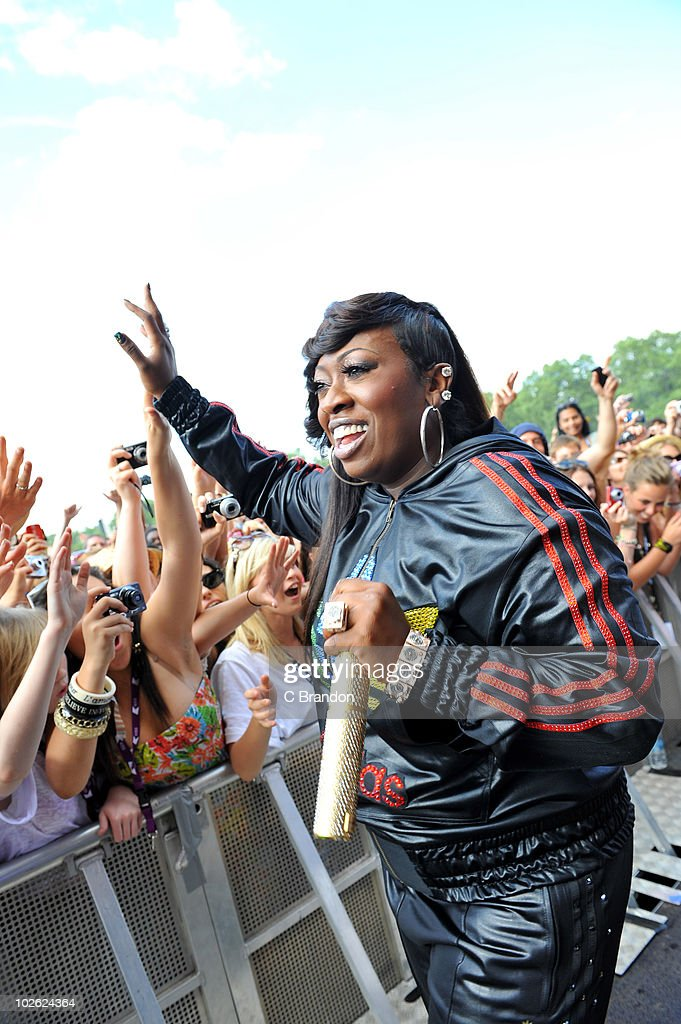 <a gi-track='captionPersonalityLinkClicked' href=/galleries/search?phrase=Missy+Elliott&family=editorial&specificpeople=202074 ng-click='$event.stopPropagation()'>Missy Elliott</a> performs on stage during the second day of the Wireless Festival in Hyde Park on July 3, 2010 in London, England.
