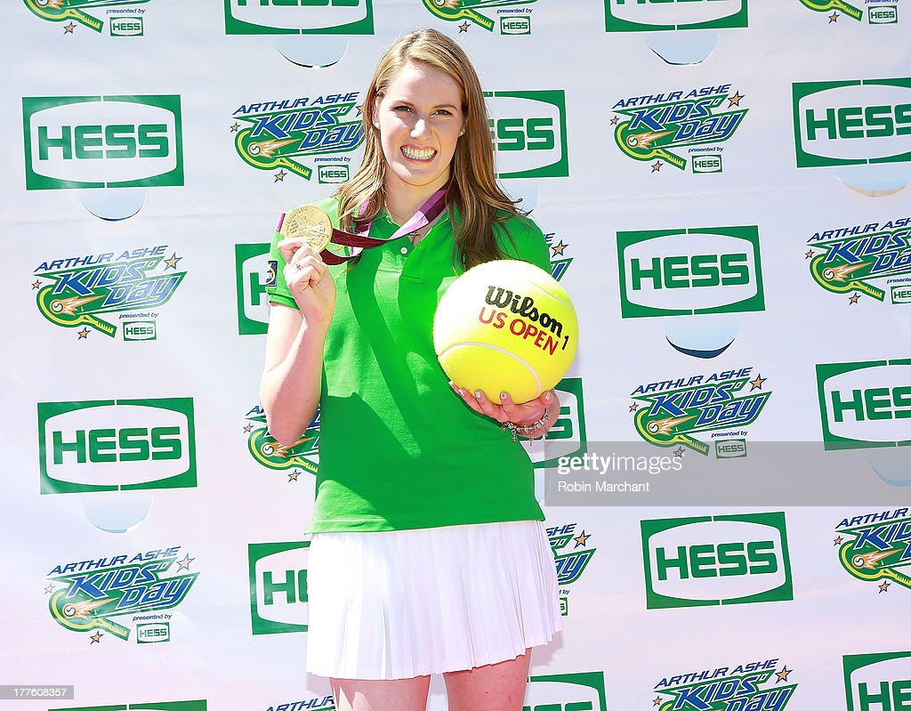 <a gi-track='captionPersonalityLinkClicked' href=/galleries/search?phrase=Missy+Franklin+-+Swimmer&family=editorial&specificpeople=6623958 ng-click='$event.stopPropagation()'>Missy Franklin</a> attends the 2013 Arthur Ashe Kids Day at USTA Billie Jean King National Tennis Center on August 24, 2013 in the Queens borough of New York City.