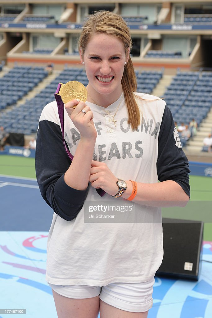 <a gi-track='captionPersonalityLinkClicked' href=/galleries/search?phrase=Missy+Franklin+-+Swimmer&family=editorial&specificpeople=6623958 ng-click='$event.stopPropagation()'>Missy Franklin</a> attends the 2013 Arthur Ashe Kids Day Rehearsals at USTA Billie Jean King National Tennis Center on August 23, 2013 in the Queens borough of New York City.