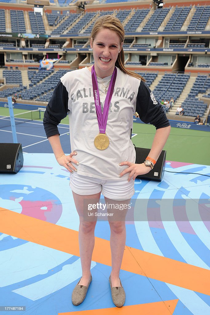 <a gi-track='captionPersonalityLinkClicked' href=/galleries/search?phrase=Missy+Franklin&family=editorial&specificpeople=6623958 ng-click='$event.stopPropagation()'>Missy Franklin</a> attends the 2013 Arthur Ashe Kids Day Rehearsals at USTA Billie Jean King National Tennis Center on August 23, 2013 in the Queens borough of New York City.
