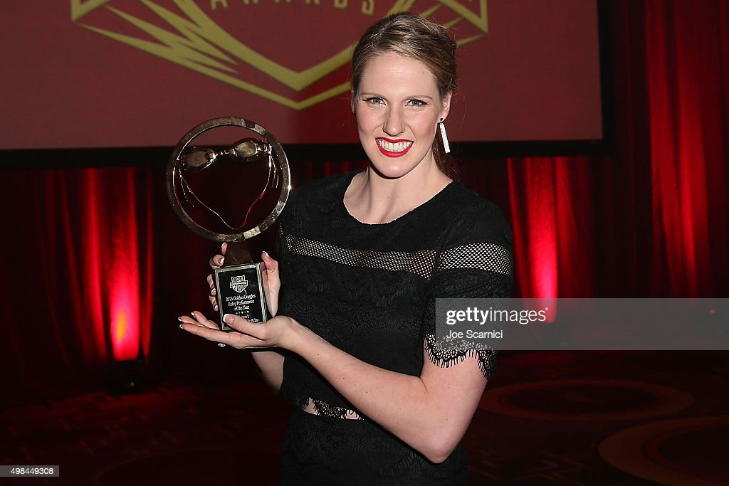 Missy Franklin attends the 2015 USA Swimming Golden Goggle Awards at J.W. Marriot at L.A. Live on November 22, 2015 in Los Angeles, California.
