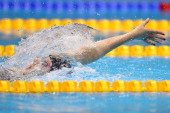 Missy Franklin competes in the Women's 200m Backstroke Final on Day 7 of the London 2012 Olympic Games at the Aquatics Centre on August 3 2012 in...