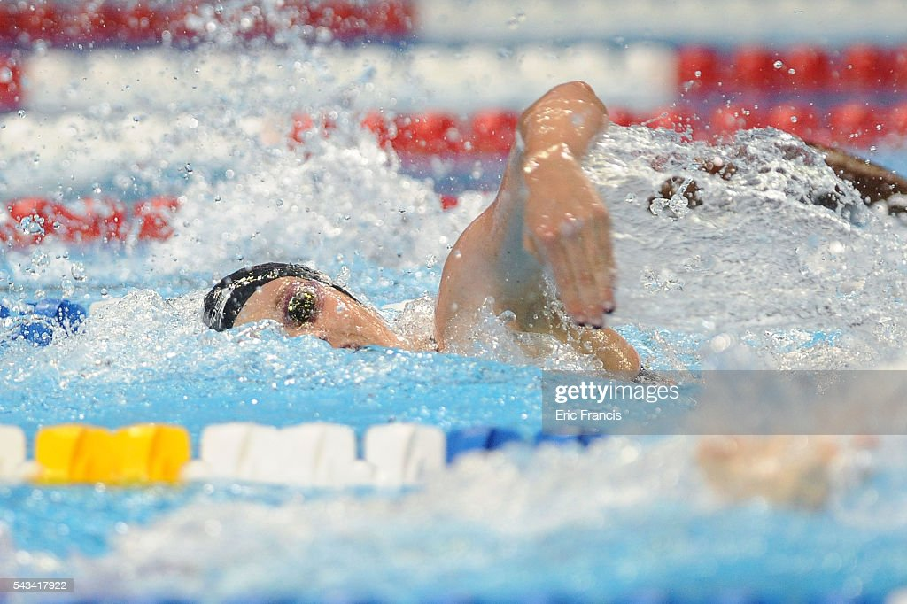 <a gi-track='captionPersonalityLinkClicked' href=/galleries/search?phrase=Missy+Franklin+-+Swimmer&family=editorial&specificpeople=6623958 ng-click='$event.stopPropagation()'>Missy Franklin</a> of the United States competes in a preliminary heat of the Women's 200 Meter Freestyle during Day 3 of the 2016 U.S. Olympic Team Swimming Trials at CenturyLink Center on June 28, 2016 in Omaha, Nebraska.
