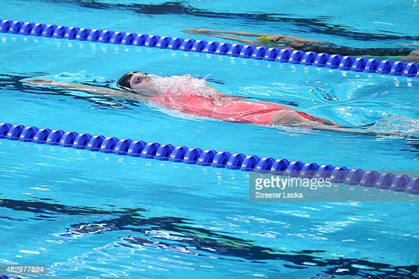 Missy Franklin of the United States competes in the Women's 100m Backstroke Final on day eleven of the 16th FINA World Championships at the Kazan...