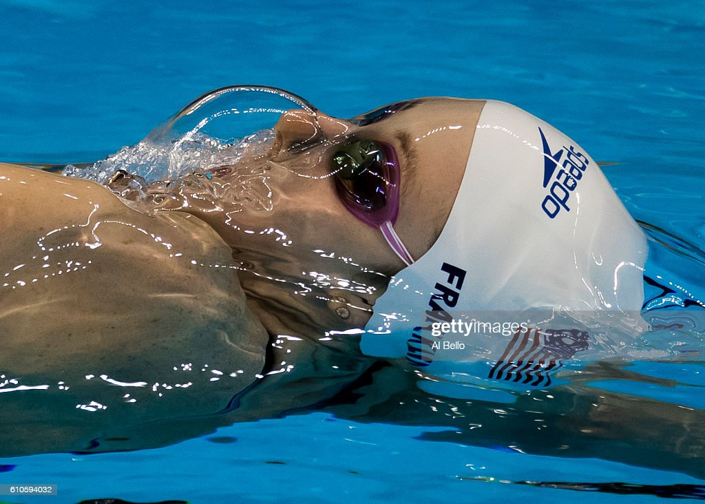 Missy Franklin of the United States competes in the Women's 200m Backstroke heat on Day 6 of the Rio 2016 Olympic Games at the Olympic Aquatics Stadium on August 11, 2016 in Rio de Janeiro, Brazil.