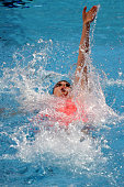 Missy Franklin of the United States competes in the Women's 200m Backstroke Final on day fifteen of the 16th FINA World Championships at the Kazan...