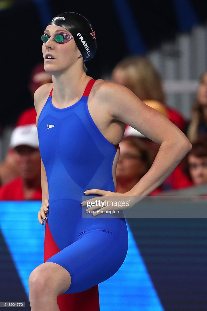 <a gi-track='captionPersonalityLinkClicked' href=/galleries/search?phrase=Missy+Franklin+-+Swimmer&family=editorial&specificpeople=6623958 ng-click='$event.stopPropagation()'>Missy Franklin</a> of the United States prepares to compete in a heat for the Women's 100 Meter Freestyle during Day Five of the 2016 U.S. Olympic Team Swimming Trials at CenturyLink Center on June 30, 2016 in Omaha, Nebraska.
