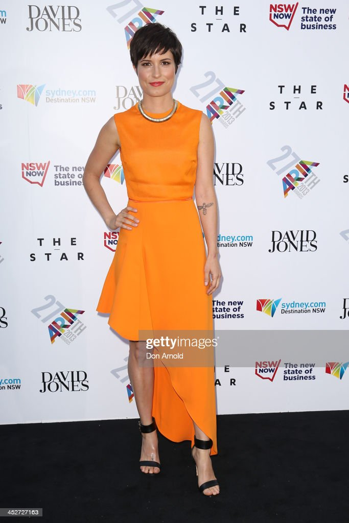 Missy Higgins arrives at the 27th Annual ARIA Awards 2013 at the Star on December 1, 2013 in Sydney, Australia.