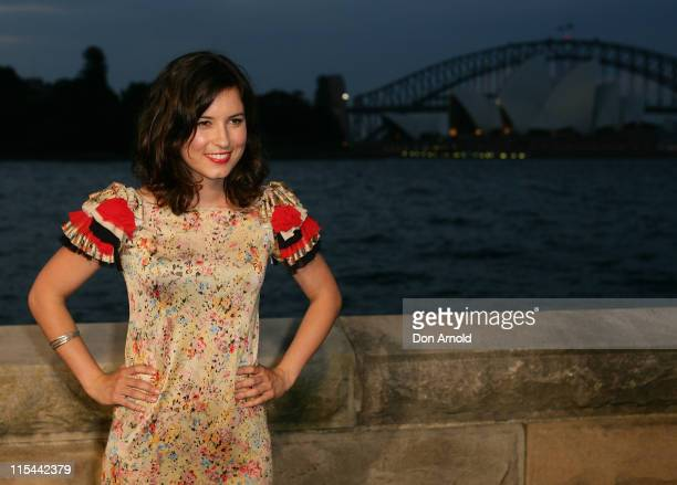 Missy Higgins attends the opening night of the St George OpenAir Cinema and Sydney premiere of Bran Nue Dae at Mrs Macquaries Point Royal Botanic...