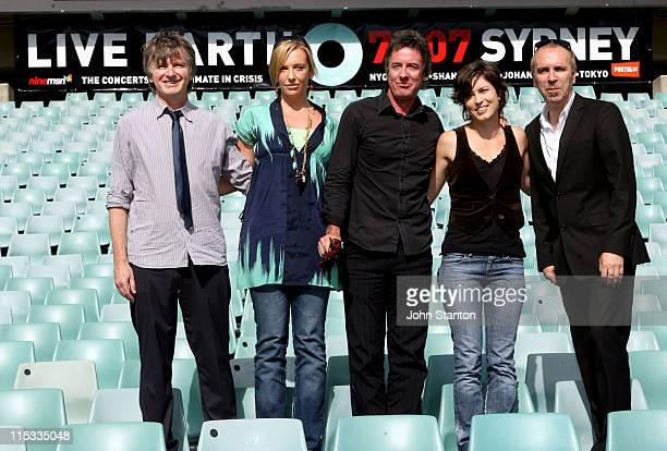 Missy Higgins Rob Hirst Toni Collette Neil Finn and Nick Seymour