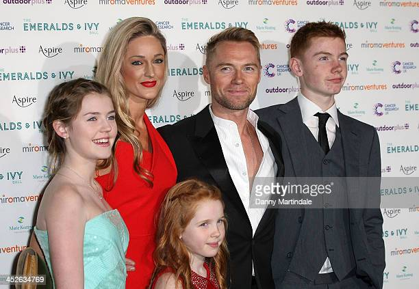 Missy Keating Storm Keating Ali Keating Ronan Keating and Jack Keating attend The Emeralds And Ivy Ball at Old Billingsgate Market on November 30...