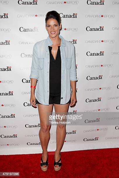Missy Peregrym attends the Canada Day in LA party at on July 1 2015 in Santa Monica California