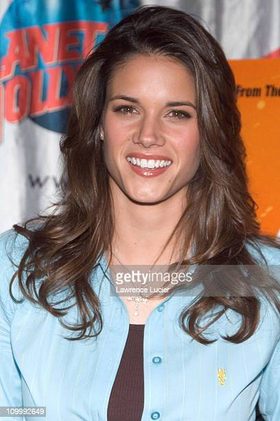 Missy Peregrym during Stick It Stars Missy Peregrym and Vanessa Lengies Visit Planet Hollywood in New York City April 20 2006 at Planet Hollywood in...
