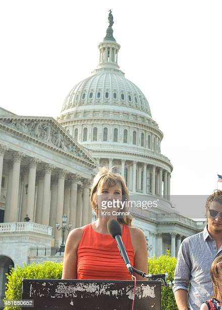 Missy Robertson from the 'Duck Dynasty' television show speaks during a press conference to Raise Awareness For Cleft Palate And Lip Treatment at US...