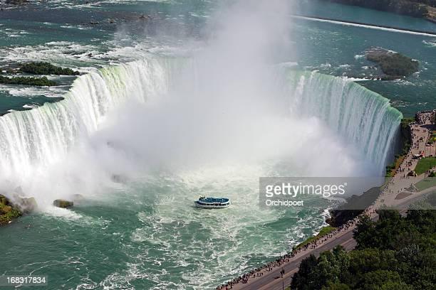 Mist coming off of Niagara Falls