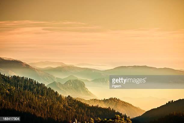 Mist on the Sierra Nevada Mountains