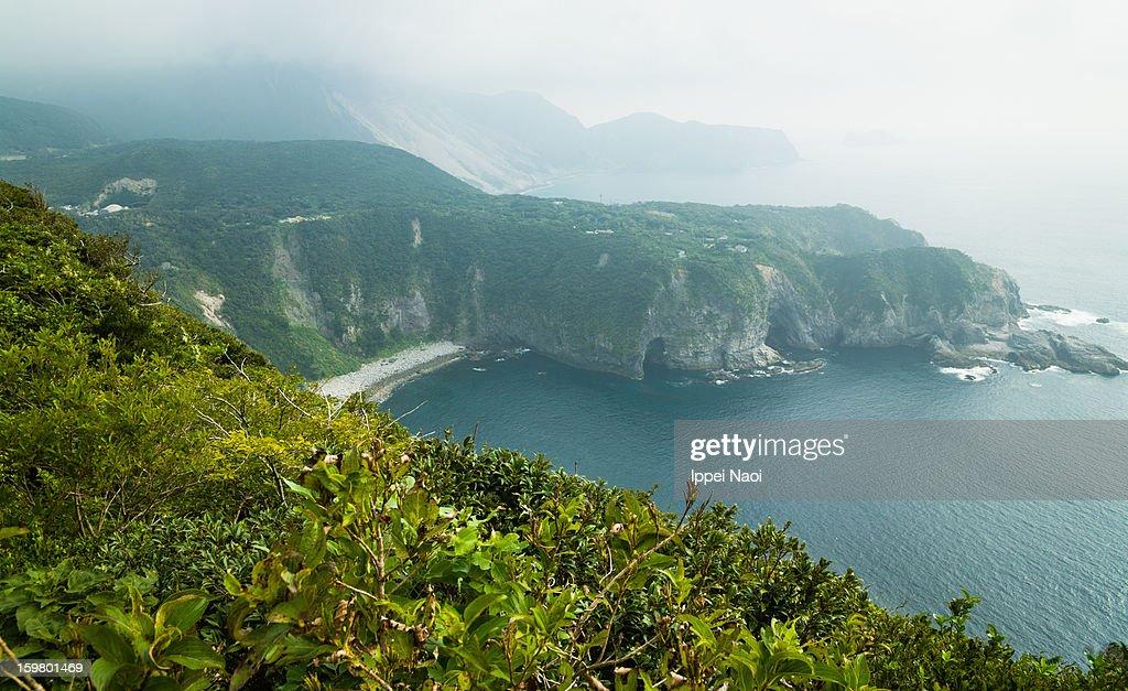 Izu Islands Japan  City new picture : Mist Over Volcanic Island Izu Islands Japan Stock Photo | Getty Images