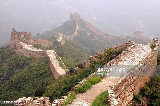 Mist shrouding the Great Wall of China