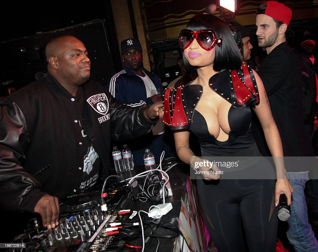 Mister Cee and Nicki Minaj attend Nicki Minaj's Christmas Extravaganza at Webster Hall on December 25, 2012 in New York City.