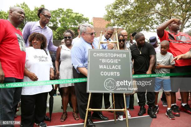 DJ Mister Cee NYC Council Member Robert E Cornegy Jr Jan Jackson NYC Parks Brooklyn Borough Commissioner Martin Maher New York State Assemblyman...