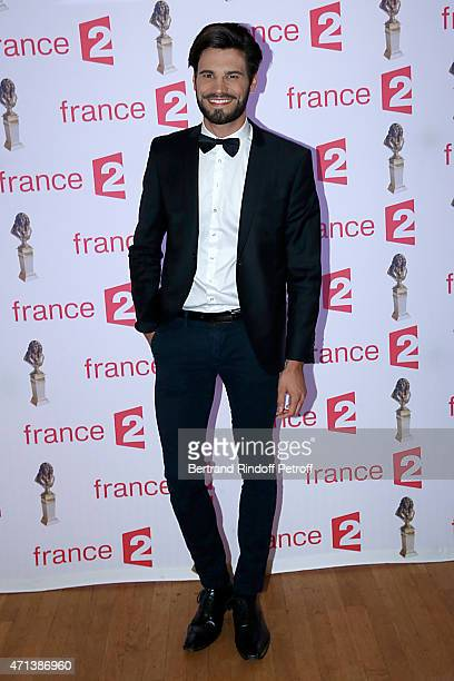Mister France 2015 Aurelien Giorgino attends the 27th 'Nuit Des Molieres' 2015 Held at Folies Bergere on April 27 2015 in Paris France
