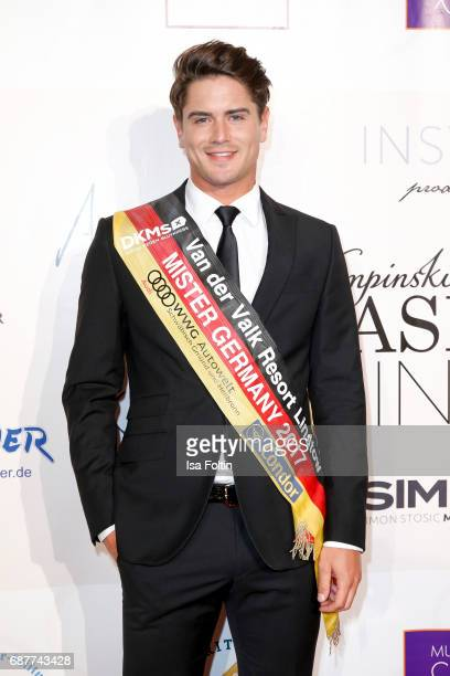 Mister Germany 2017 Dominik Brunter attends the Kempinski Fashion Dinner on May 23 2017 in Munich Germany